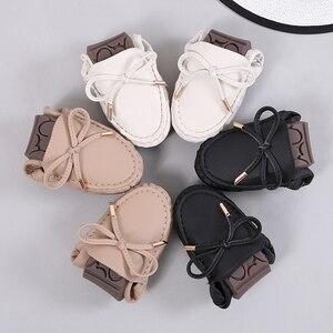 Image 5 - Mocassins souples à enfiler pour femmes, chaussures plates fendues, plates, à franges, ballerines, solides, pour infirmière, collection 2020
