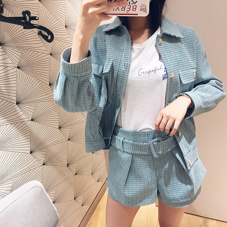 Women Jacket Loose Retro Casual Jacket 2019 Spring and Summer Weaving Collar Coat