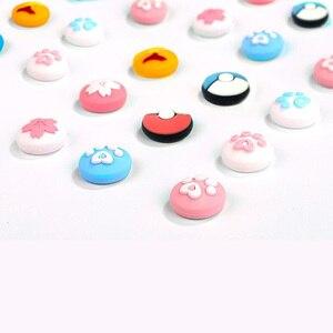 Image 5 - Carino Zampa di Gatto Artiglio Sakura Thumb Stick Grip Cappuccio Joystick Copertura Per Nintend Interruttore Lite Joy Con Controller Gamepad thumbstick Caso
