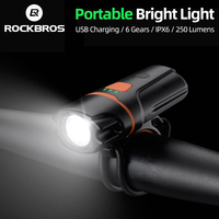 ROCKBROS Bicycle Front Rechargeable Light Cycling Bike Flashlight Waterproof Headlight Bicycle Lamp Power Bank Bike Accessories|Bicycle Light|Sports & Entertainment -