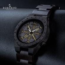 BOBO BIRDนาฬิกาไม้นอร์สRuneเข็มทิศMensนาฬิกา2020 Luxuryนาฬิกาข้อมือไม้นาฬิกาชั่วโมงของขวัญไม้ไผ่กล่องReloj hombre