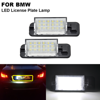 2 pieces Xenon White Clear Car LED Number License Plate Light For BMW E36 1992 1993 1994 1995 1996 1997 1998 image