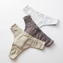 Ropa interior Sexy para mujer, a la moda Tanga de algodón, bragas transpirables, lencería suave, bragas íntimas de tiro bajo