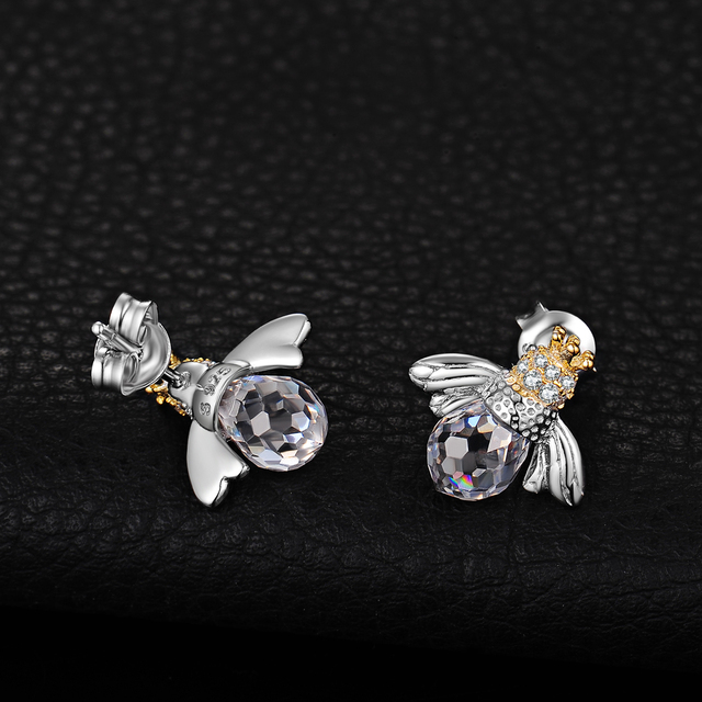 Bee Crown Stud Earrings