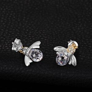 Image 3 - JewelryPalace Crown Bee Cubic Zirconia Stud Earrings 925 เงินสเตอร์ลิงต่างหูเกาหลีต่างหูแฟชั่นเครื่องประดับ 2020