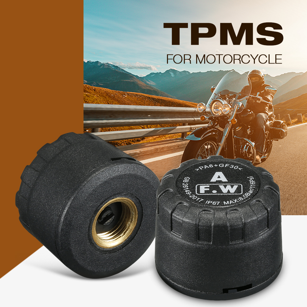 Zeepin M1 2PCS External Sensors Motor TPMS Bluetooth APP Mode Real-time IP67 For Motorcycles Tire Pressure Monitoring System New