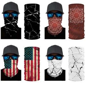 Американский флаг, 3D трубчатый шарф, уличная бандана, новинка, Csoplay, банданы в стиле хип-хоп, с принтом черепа, защита шеи, гетры, туристически...