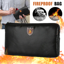 Document-Bag Fiberglass Silicone-Coated Sewing-Thread Fireproof Improved Zipper Fire-Resistant