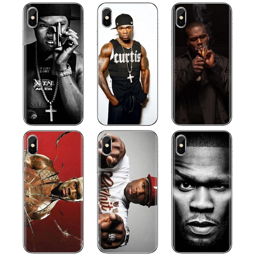 50 cent rap cantor americano rapper para iphone ipod touch 11 12 pro 4 4S 5 5S se 5c 6s 7 8 x xr xs plus max 2020 pele macia