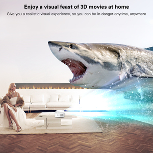 Image 4 - CRENOVA Newest Full HD 1080P Android Projector 6000 Lumens Android 7.1.2 OS Video Projector Support 4K Dolby 2G 16G Beamer
