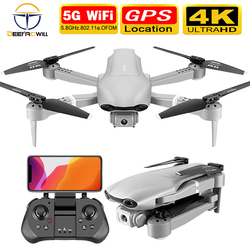 Drone f3 gps 4k 5g wifi, drone de vídeo ao vivo fpv, quadrotor e vôo de 25 minutos, distância de rc 2020, novo, 500m drone hd grande angular câmera dupla