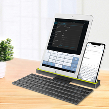 цена Bluetooth Keyboard For iPad Pro Mini Air For Smartphone Tablet for IOS/Windows Foldable Mini Bluetooth keyboard For Android онлайн в 2017 году