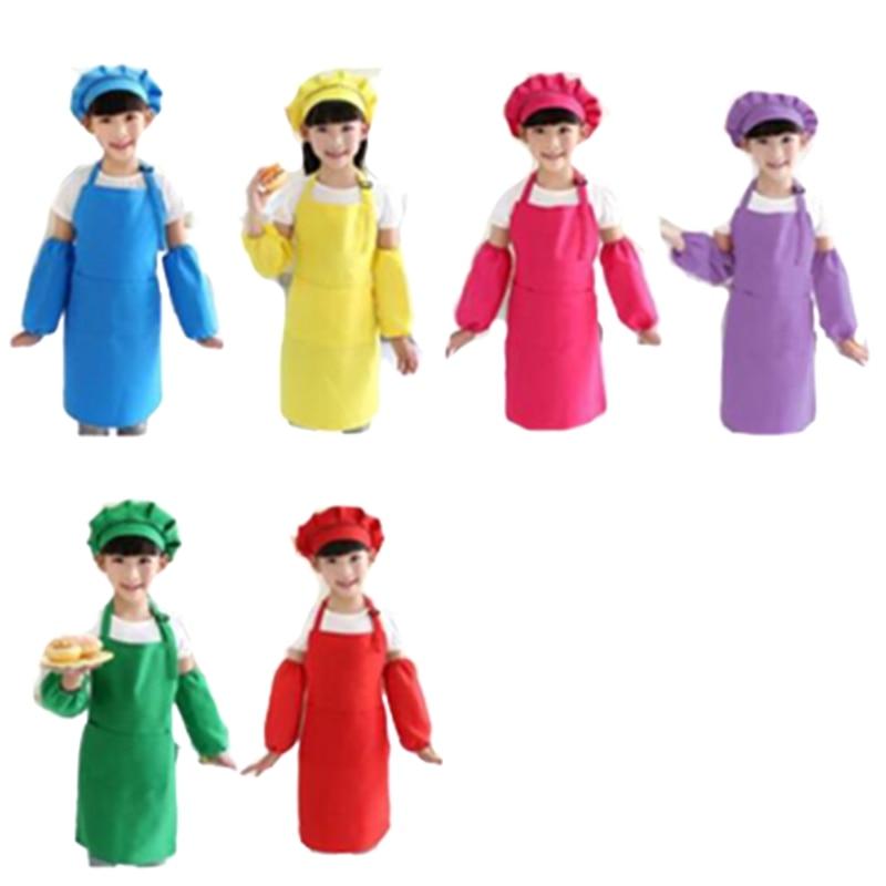 12 шт. Детский фартук для повара, Детский Регулируемый хлопковый фартук для мальчиков и девочек, Кухонный Фартук с ремнем