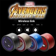 Marvel Iron Man Captain America altoparlante Bluetooth Wireless 201 Subwoofer per auto scheda Plug-in Computer Audio portatile Mini Stereo