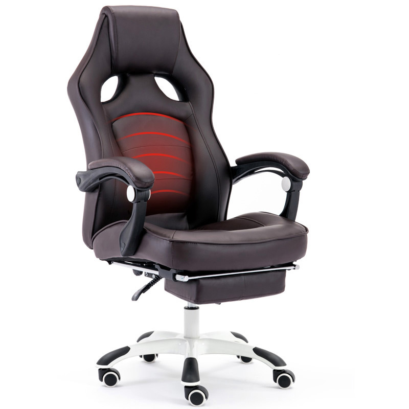 Computer Chair Home Reclining Office Chair Massage Boss Chair Lifting Swing Chair Leather Art E-sports Chair