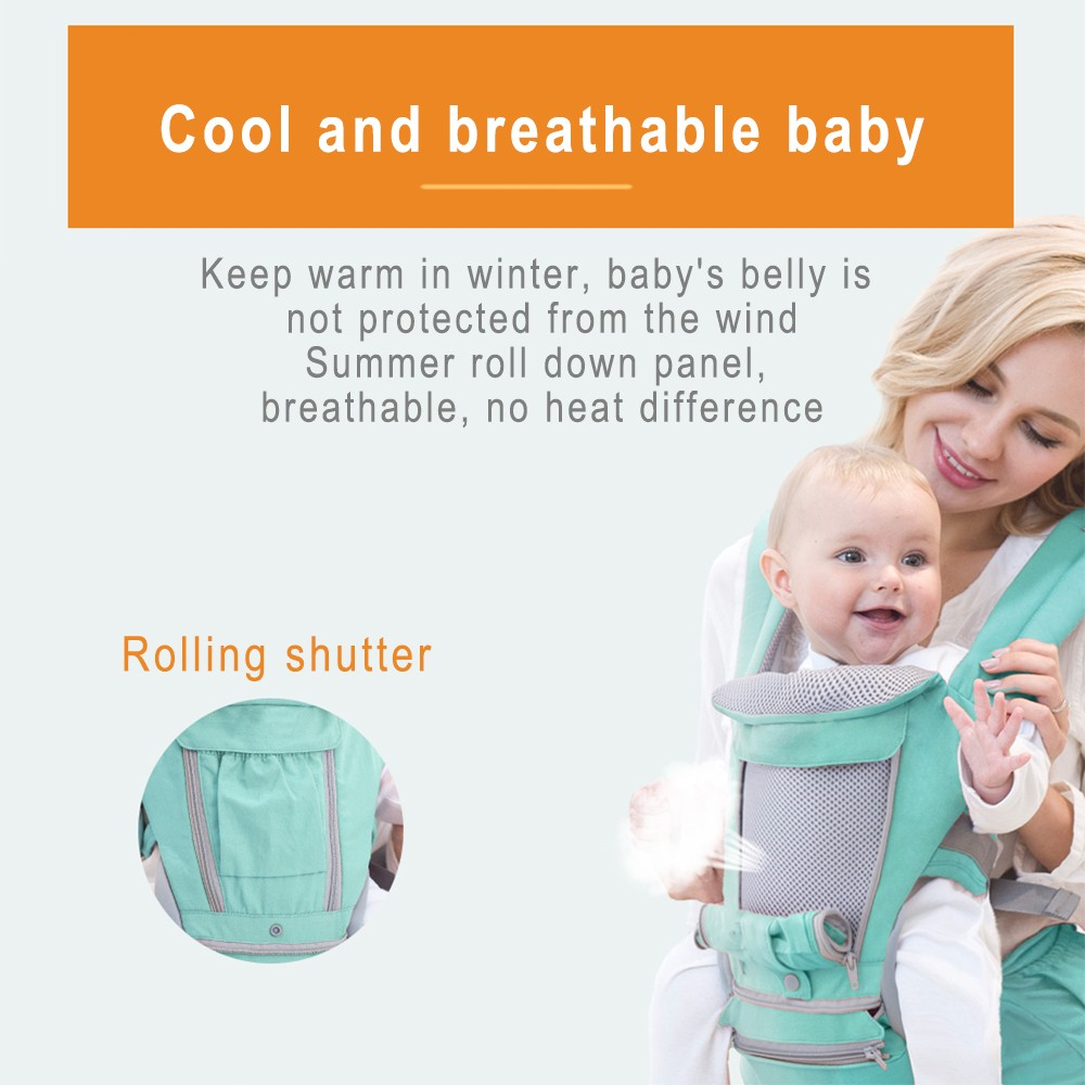 Baby Carrier Breathable Ergonomic Baby Carrier Backpack Portable Infant Baby Carrier Kangaroo Hipseat Heaps Baby Sling Carrier