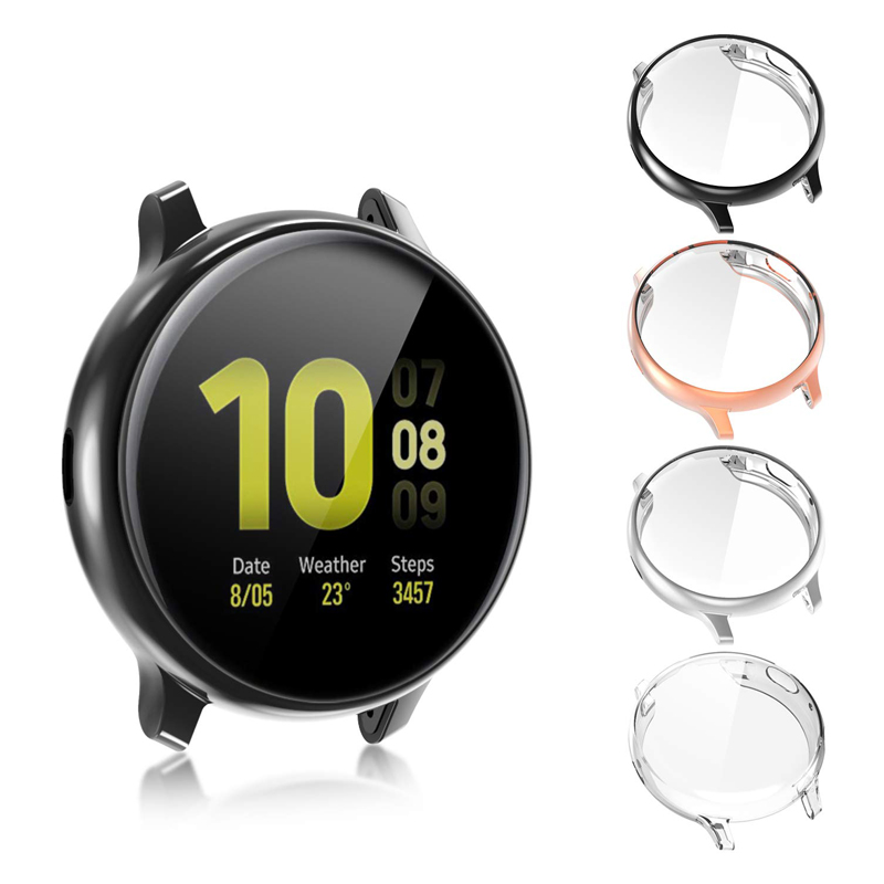 Protective Case For Samsung Galaxy Watch Active 2 Ultra-thin Soft Silicone HD Full Screen Protection Cover Galaxy Active 40/44mm