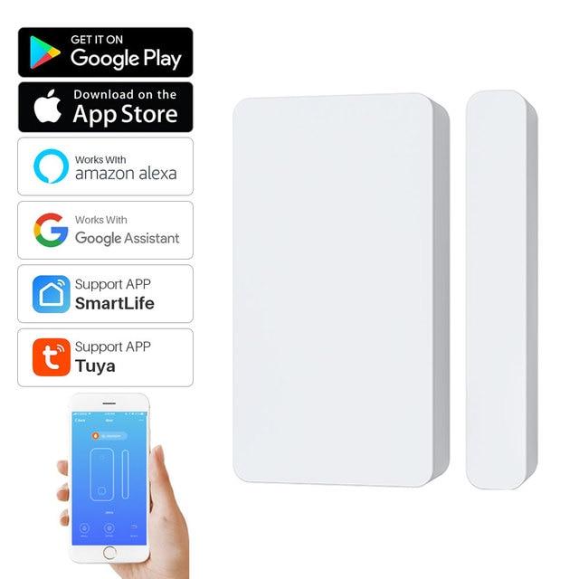 Tuya Smart WiFi Door Sensor Detector Door Window Open/Closed Detectors App Notification Alarm Support Alexa Google Home 1