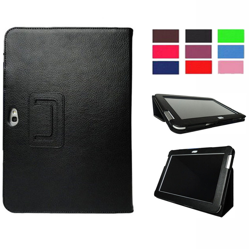 Magnet <font><b>Case</b></font> for Samsung Galaxy Note 10.1 2012 <font><b>GT</b></font>-<font><b>N8000</b></font> <font><b>N8000</b></font> N8010 N8020 Tablet Cover Flip Stand PU Leather Cap Folio Stand shell image