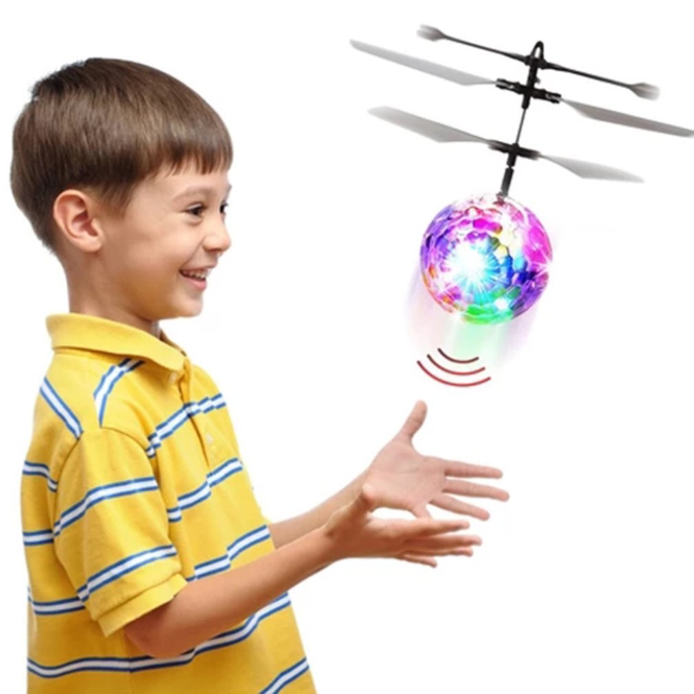 Colorful Suspension Ball Induction Aircraft Induction Aircraft Induction Crystal Ball Flying Ball Induction Floating Ball Toy