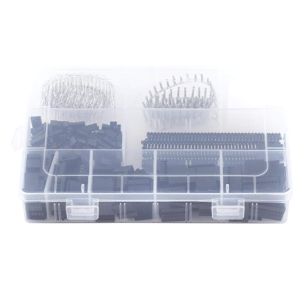 1450Pcs 2.54Mm Dupont Terminal Connector Wire Jumper Pin Connector Housing Terminal Kit And Male Female Crimp Pins Terminals     - title=
