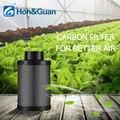 4 ''6'' очиститель воздуха угольный фильтр черный Гидропоника фильтр с активированным углем угольный комнатный растительный воздушный выпус...