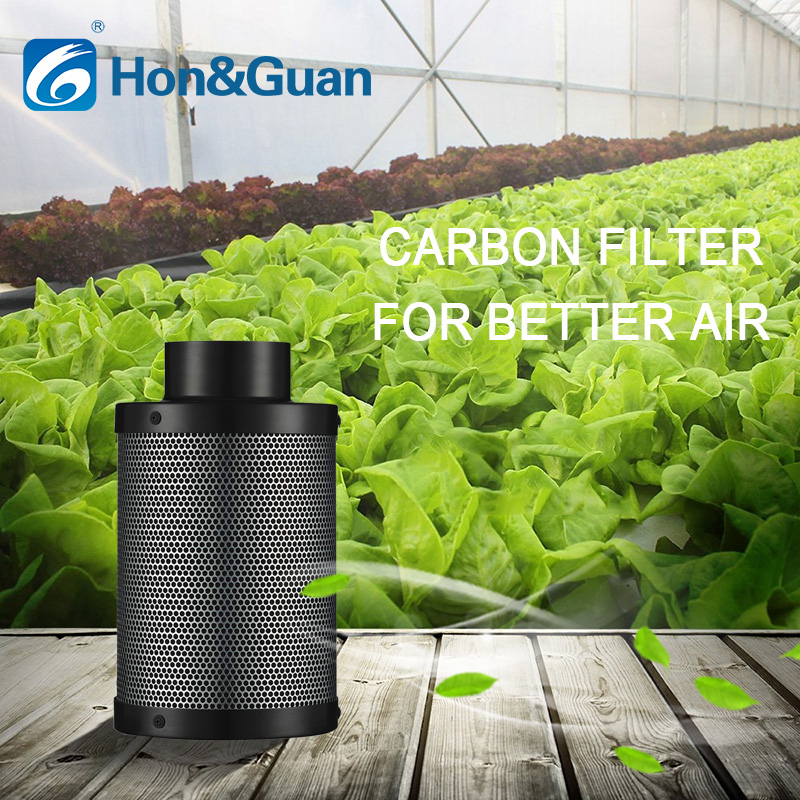4 6 Inch Carbon Filter Hydroponics Activated Carbon Filter Charcoal Indoor Plant Air Exhaust Filter Cotton Air Purifier Parts