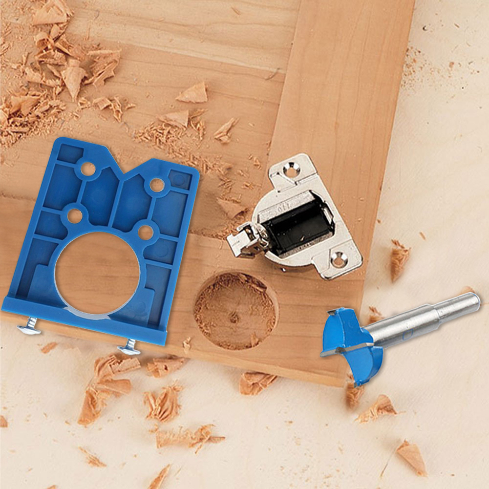 35mm Hinge Hole Drilling Guide Locator Hinge Drilling Jig Concealed Guide Woodworking Hole Opener Door Cabinet Accessories Tool(China)