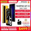 [Глобальная версия мировая премьера] realme GT Snapdragon 888 5G 65 Вт, мгновенная зарядка 120 Гц Super AMOLED [предпродажа 6/16-6/25 Бесплатная бутоны Q2]
