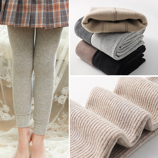 Winter Fleecy Textured Leggings 8