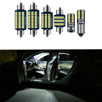 Canbus Error Free LED Bulb Interior Dome Map Light Indoor Lights Kit For BMW 3 Series E36 E46 E90 E91 E92 E93 1990-2013 image