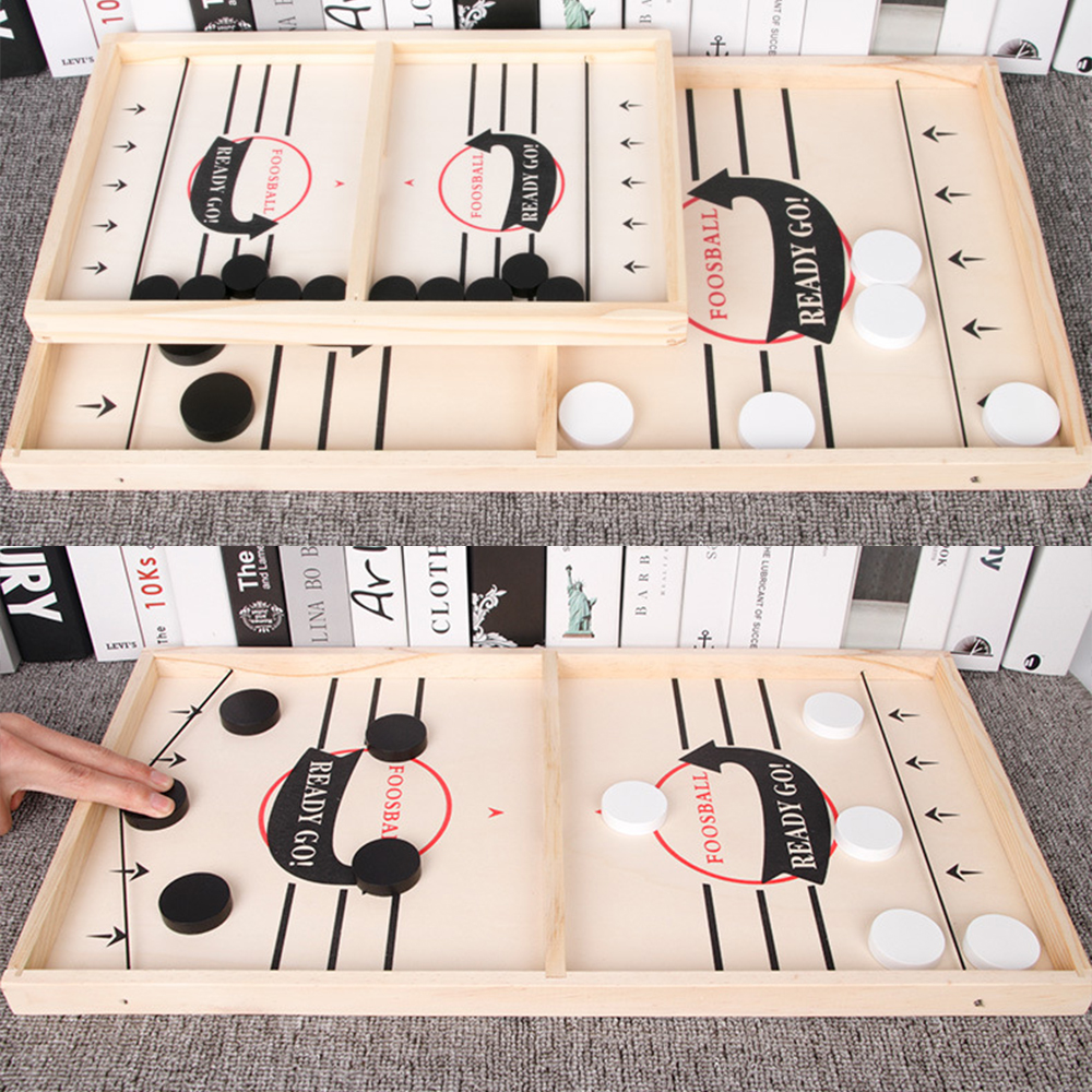 Foosball Games Super Winner Sling Puck Game Fun Toys Board-Game table desktop battle 2 in 1 ice hockey game Toys For Adult Child-1