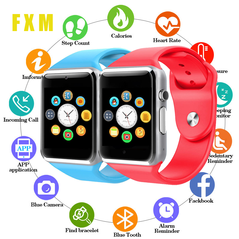 Couple Watches Bluetooth A1 Fashion Clock Sports Tracker Men Women Smartwatch IP67 Waterproof A1 Watches For Android IOS Reloj