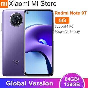 Globale Version Xiaomi Redmi Hinweis 9T 5G Handy 4GB RAM 64GB/128GB ROM dimensity 800U 48MP Kamera 5000mAh Batterie 6.53 ''NFC