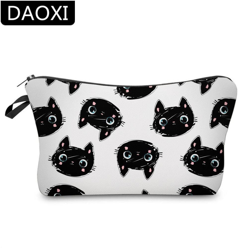 DAOXI 3D Printing Lovely Cat Cosmetic Bags Fashion Makeup Bag Gift DX51492