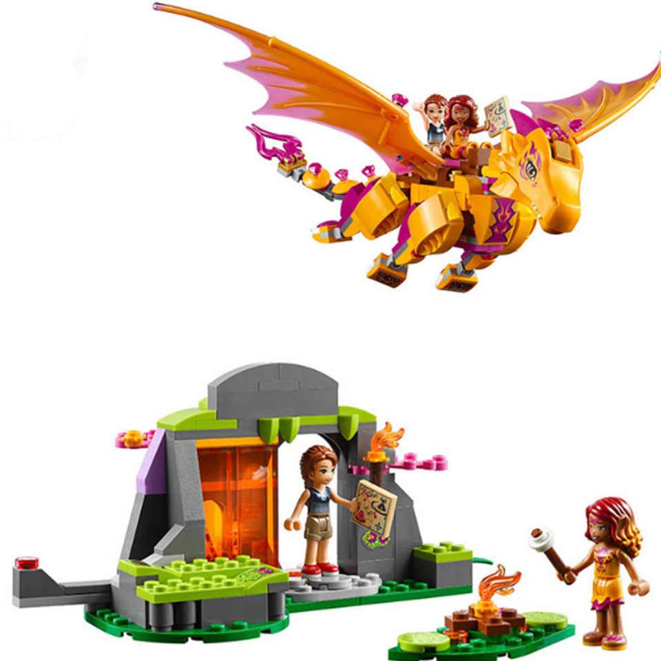 เอลฟ์ 10549 เอลฟ์มังกร Building Blocks อิฐ DIY ของเล่นเพื่อการศึกษาเข้ากันได้กับ Legoinglys เพื่อน 41178 เพื่อน