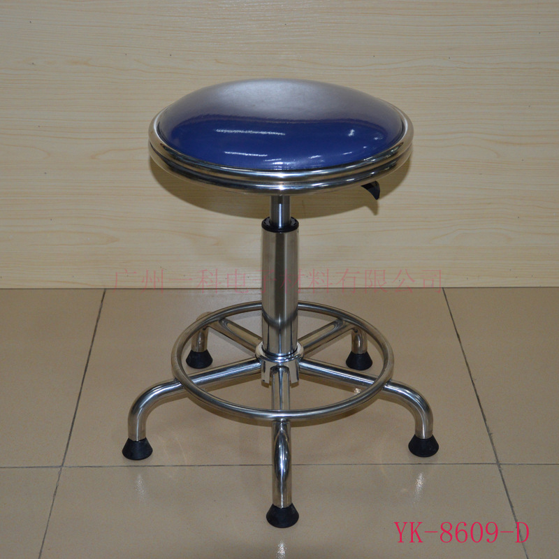 Manufacturers Direct Selling 304 Stainless Steel Height Adjustable Round Stool Clean Room Clean Workshop Stainless Steel Stool L
