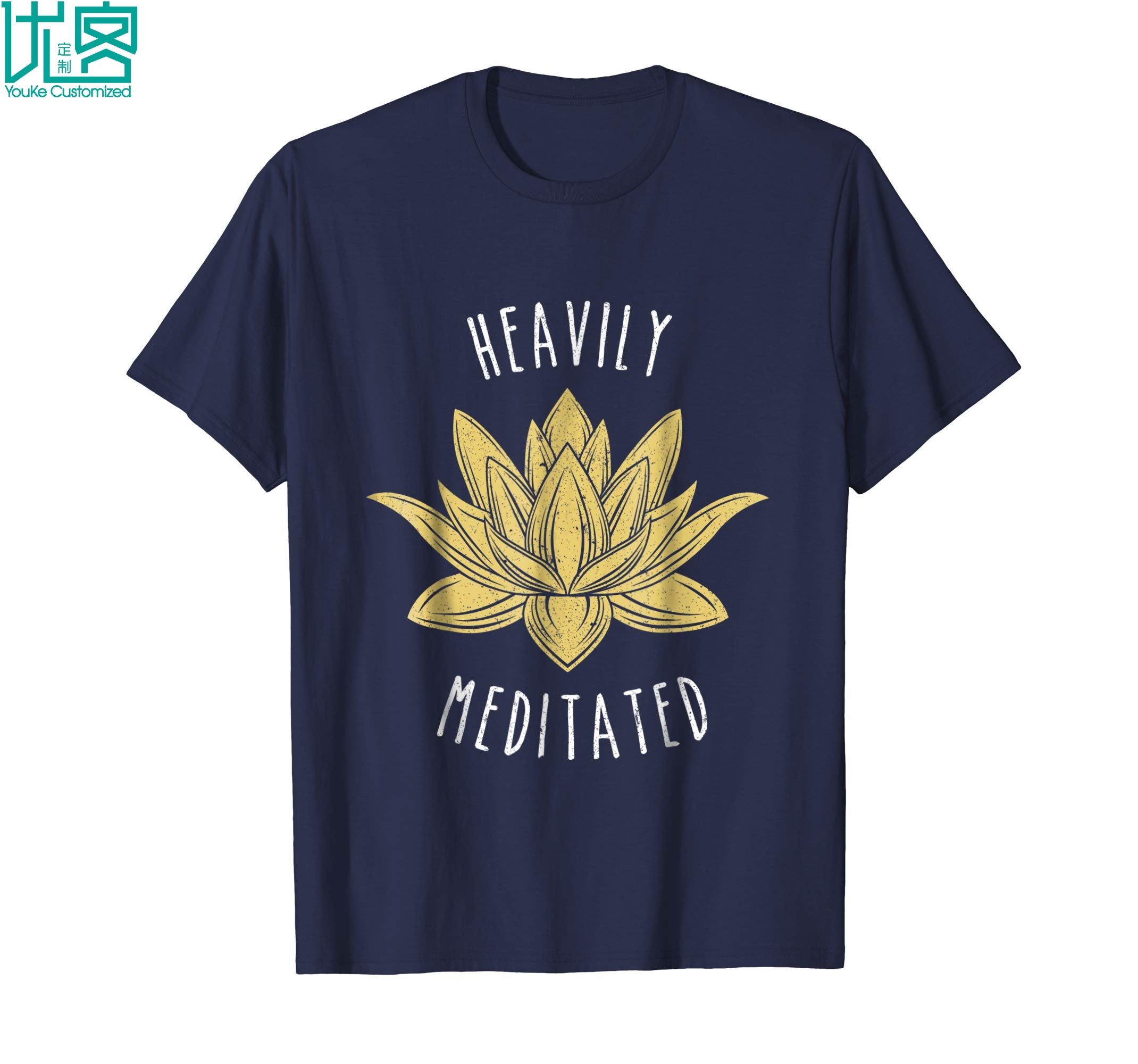 Best Punny Gifts Heavily Meditated Men Women Tee Shirts Amazing Short Sleeve Unique Casual Tees 100% Cotton Clothes T Shirt
