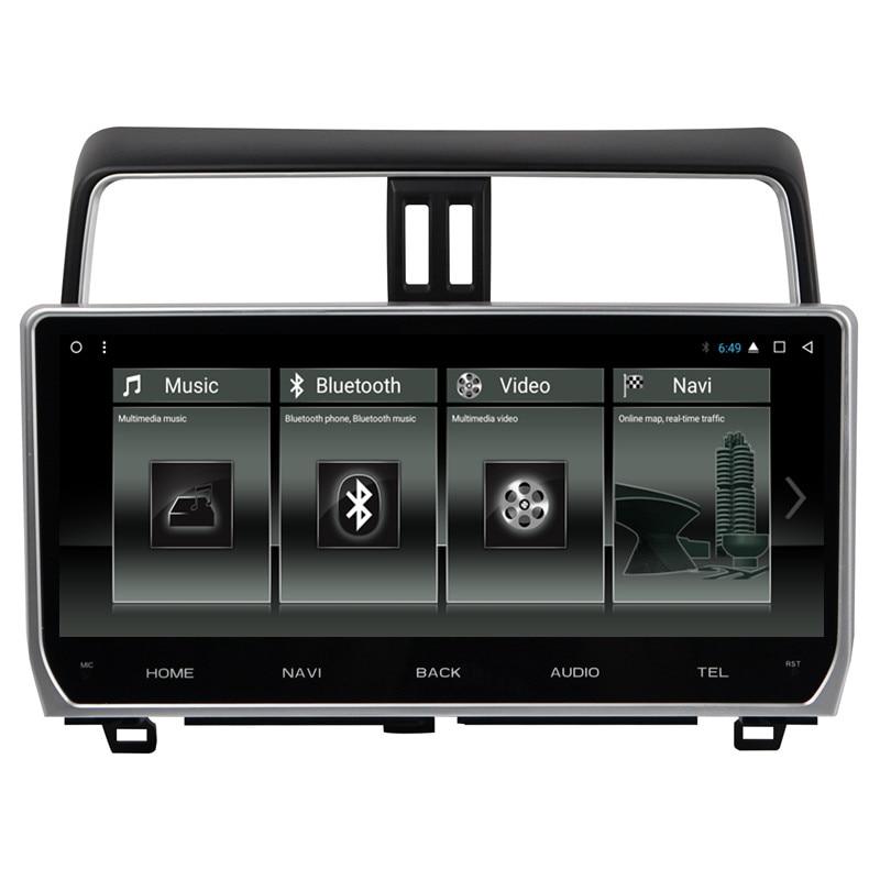 "12.3 ""Android multimédia voiture stéréo Radio Audio DVD GPS Navigation tête unité Sat Nav pour Toyota Land Cruiser Prado 150 2018 2019"