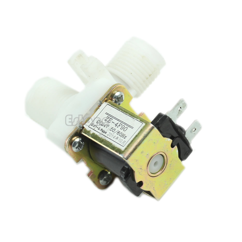 Electric Solenoid Valve Magnetic N/C DC 24V Water Air Inlet Flow Switch 1/2