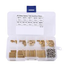 Nylon Screws Bolt Nuts Set Brass Standoff, 270pcs M2 Female-Female Standoff and Assortment Kit Nut