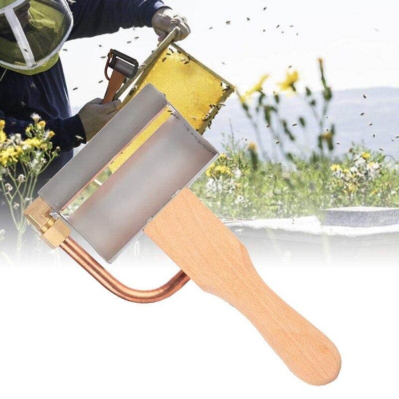 Botique-extracteur de miel électrique outil apiculture outils pour l'exportation abeille ustensiles grattoir de Spleen électrique-couteau de coupe miel-Cu