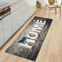 Kitchen Mat Entrance Doormat for Living Room Non-Slip Bathroom Bedside Floor Mat Home Decor Long Print Washable Modern Carpet