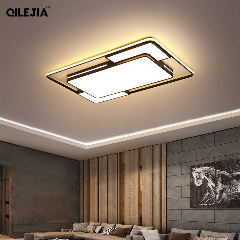 Modern Square LED Chandelier Lights For Living Room Bedroom Kitchen Gold Black Luminarias Home Deco Lighting Fixtures AC90-260V
