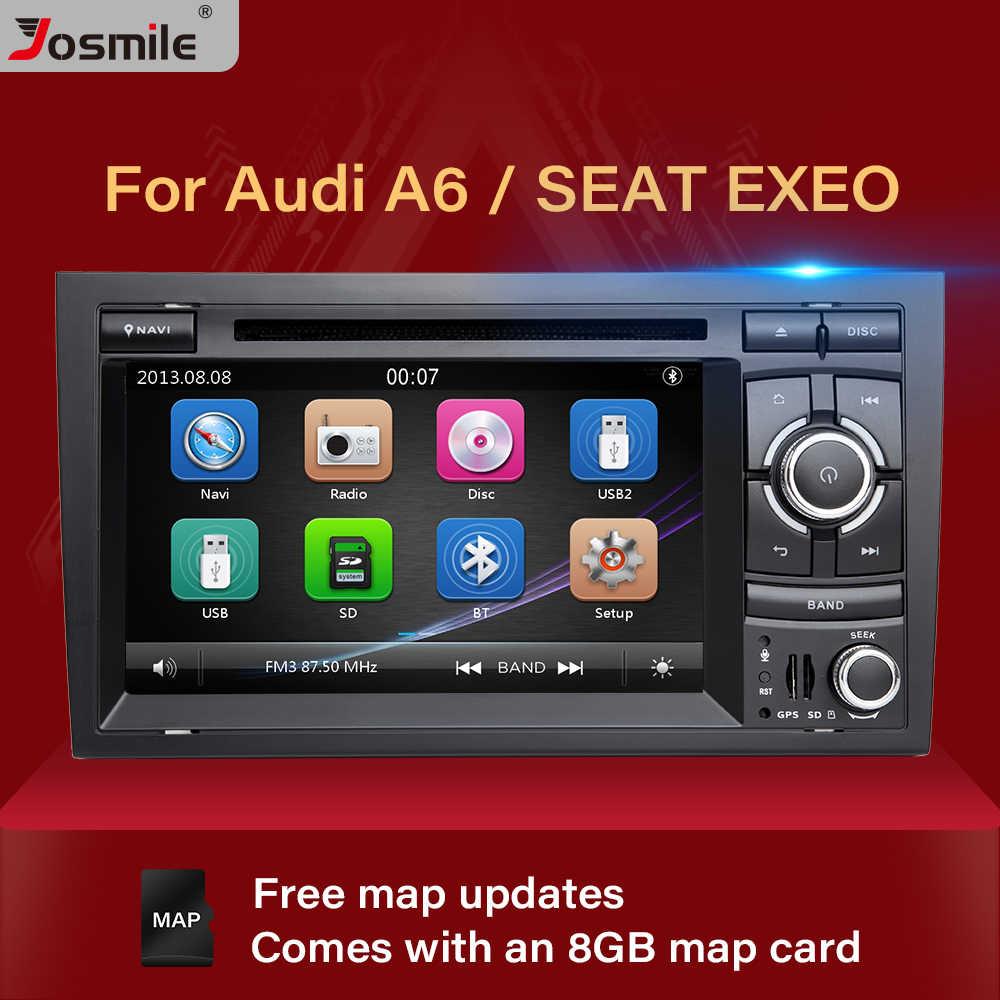 Josimle 2 Din AutoRadio Car DVD Multimedia Player Per Audi A4 B6 B7 Seat Exeo S4 B7 B6 RS4 B7 2000-2012 di Navigazione GPS Stereo