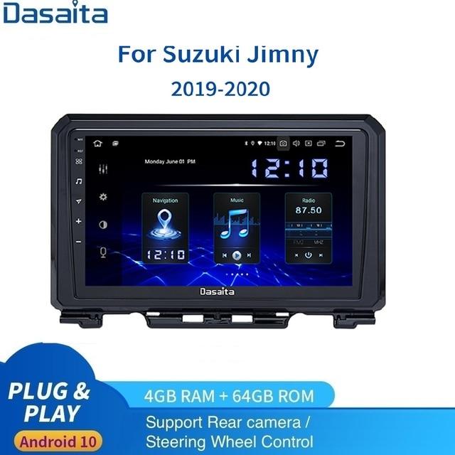 """9 """"Radio 1 Din Android 10.0 Cho Suzuki Jimny Đa Phương Tiện 2019 2020 4G 64G PX6 Carplay & Android Tự Động"""