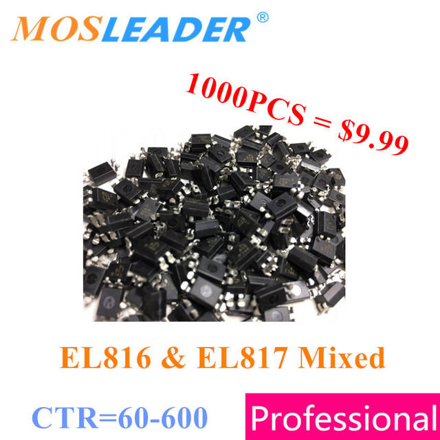 EL816 EL817 SOP4 1000PCS CTR=60 600 EL816A/B/C/D EL817A/B/C/D Replace PC816 PC817 Bulk new Does not in the tape Good quality