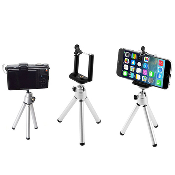 Flexible Mini Aluminum Tripod for Phone Xiaomi Samsung Huawei Cell phone Tripod Stand For Mobile Smartphone image