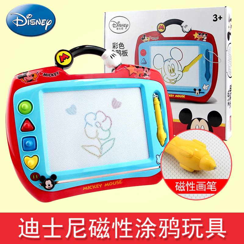 Disney CHILDREN'S Drawing Board Magnetic Drawing Board Baby Painted Sketchpad 1-3 Years Old Kids Toy Color Doodle Board