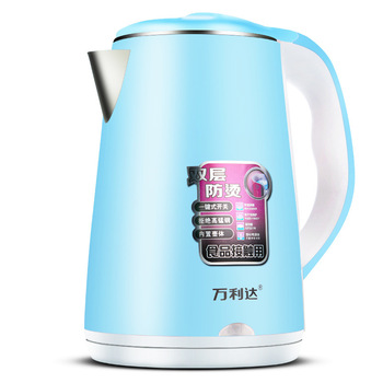 2.3L 1500W Stainless Steel Electric Kettle Food Grade Double Layer Anti Scalding Insulation Pot Home Kitchen Fast Heating Kettle